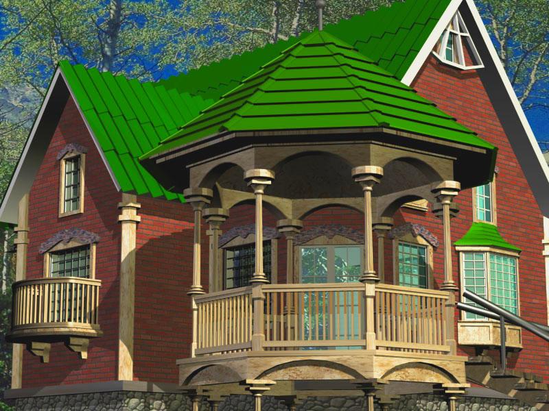 дачные кирпичные дома фото - Нужные схемы и описания для всех.